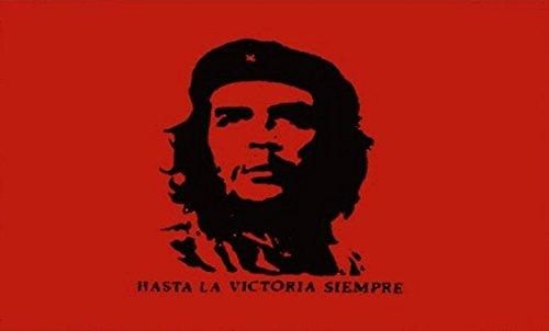 Che Guevara drapeau 3ft x 2ft Taille M-100% Polyester-Oeillets Métal-Double Couture