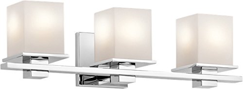 Kichler 45151CH Tully Vanity, 3 Light Incandescent 300 Total Watts, Chrome