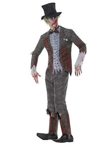 SMIFFYS 46982L Deluxe sposo costume con pantaloni giacca (grande)