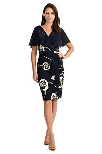 Joseph Ribkoff Midnight Blue & Vanilla Dress Style 201269 - Spring 2020 Collection (18)