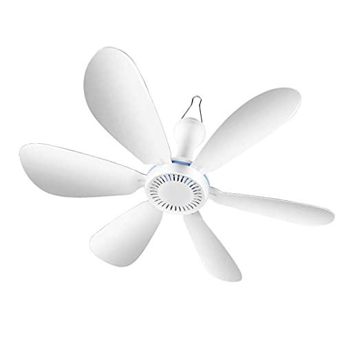 N\C Ventilador pequeño, silencioso Mini eléctrico en Cama con mosquitera para Dormitorio de Estudiantes, Techo de Ahorro de energía de 6 Hojas para el hogar