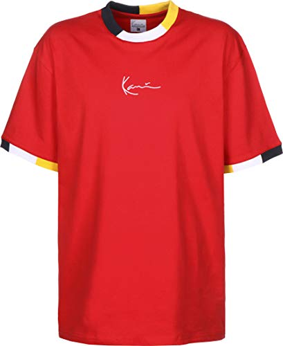 Karl Kani Signature Ringer Camiseta Red/Navy/Grey/Yellow