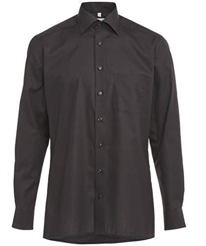 OLYMP Herren Hemd Modern Fit Langarm, 99 Schwarz, 43