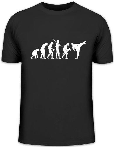 Shirtstreet24, Evolution Judo, Kampfsport Karate Kung Fu Funshirt, Größe: L, schwarz