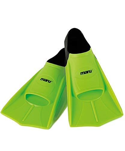maru - Trainingsflossen, Unisex, Neon Lime/Black, X-Large (42-44)