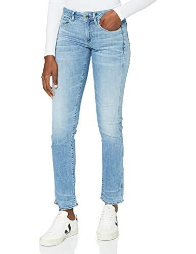 G-STAR RAW Damen Jeans 3301 Deconstructed Mid Waist Straight, Blau (It Indigo Aged 8968-8436), 23W / 34L