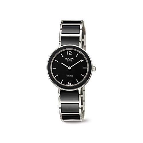 Boccia Damen Analog Quarz Uhr mit Titan Armband 3311-02