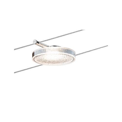Paulmann 501.14 Seilsystem DiscLED2 Single Erweiterung Tageslichtweiß 1x4W Transparent Dimmbar Tunable white LED 50114 Seilleuchte Hängeleuchte