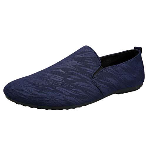 ღLILICATღ Zapatos Retro Holgados para Hombres de Moda Zapatos Casuales de Guisantes Zapatos Casuales de Inglaterra