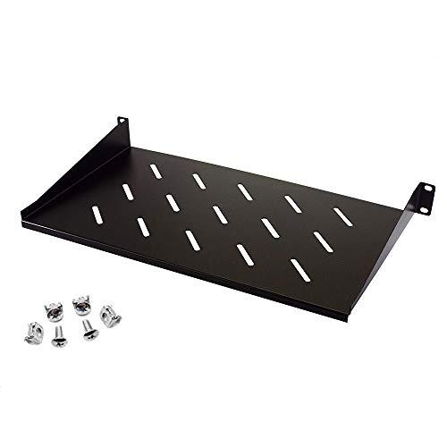 1U Rack Shelf - Adjustable 10' Deep - Steel - Vented Rack Shelf - Rack Mount Shelf - Server Rack Shelf - Cantilever Shelf For 1U standard rack cabinet