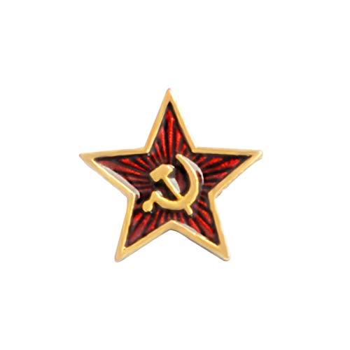 FISH4 Broches Pin de águila Militar Alemana Bandera de Rusia Estrella roja Esmalte Pin Insignia de Metal Regalo de joyería para Hombres