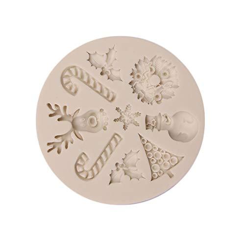 Demarkt Molde de Pastel de Fondant Baking Mat Moldes Para Caramelo y Osos Gominola Dulces Bombones Estrella y Concha 0.9CM 1PCS