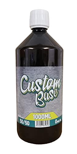 Custom Base Liquido base 1000 ml senza nicotina, 50% VG   50% PG