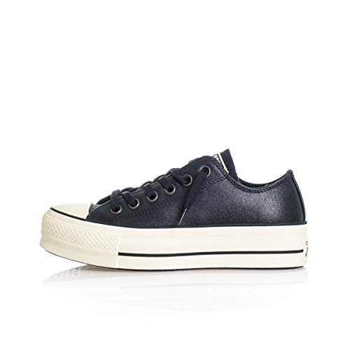 Converse 56589 Chuck Taylor all Star Shiny Metals Platform Low Top, 565899C, Scarpa da Ginnastica Donna Autunno Inverno 41