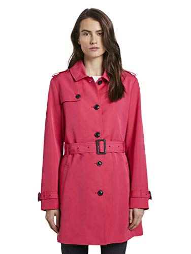 TOM TAILOR Damen Jacken & Jackets Wasserabweisender Trenchcoat Blushing pink,XXL
