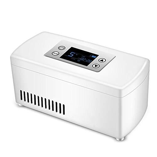 PEIHAN Refrigerador portátil para Coche, Nevera, Buen Mini refrigerador para medicamentos y Enfriador de insulina para automóvil, Viajes, hogar, Caja de Viaje pequeña para medicamentos