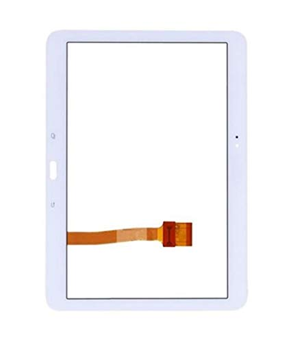 Logo Screen Fit For Samsung Galaxy Tab 4 10.1 T530 T531 T535 SM-T530 SM-T531 SM-T535 Tablet Touchscreen Tab4 LCD Display Glass Sensor Spare Part (Color : White)