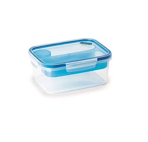 Snips Lunch Box 1,5 LT-Rettangolare Posate, Blu Trasparente, 1,50