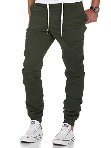 AitosuLa Herren Jogginghose Baumwolle Freizeithose Sport Slim Fit Trainingshose Sweatpants Jogger Pants (Armeegrün, Large)