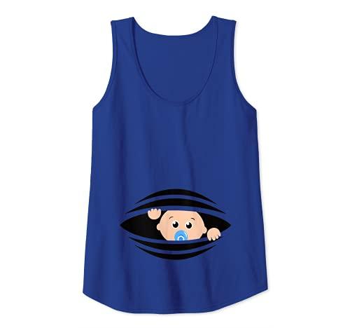 Mujer Para la mujer embarazada Bebé divertido el vientre Embarazo Camiseta sin...