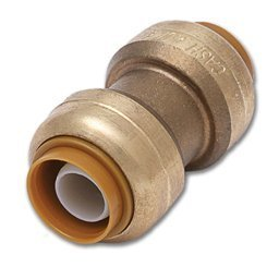 Sharkbite Push Fit Coupling, 1, Lead Free by Cash Acme