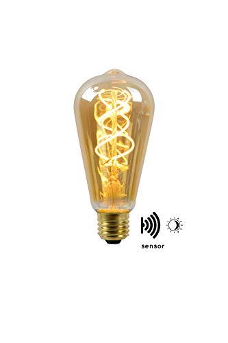 Lucide LED BULB TWILIGHT SENSOR - Glühfadenlampe Außen - Ø 6,4 cm - LED - E27 - 1x4W 2200K - Amber
