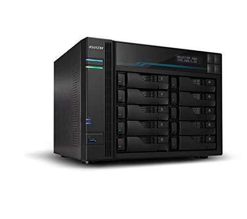 Servidor NAS ASUSTOR AS6510T 10 BAHIAS Atom C3538 Quad Core DENVERTON 2.1GHZ 8GB 2X2.5GBE 2X10GBE Raid 0,1 JBOD SATA6GB USB 3.0