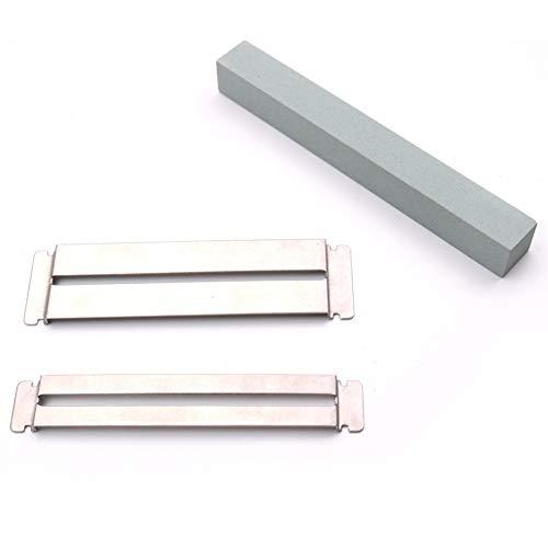 N/A NIEUWE Gitaar Fret Wire Schuren Stone Protector Kit Vinger Plaat Radian Polijsten DIY Luthier Gereedschap (Opp), Slijpschijf *2+slijpsteen
