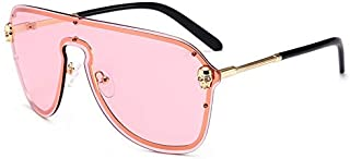 Sunglasses Fashion Accessories Feng Jing Integrated Personality Style Shield Sunglasses for Party Fishing Tourism (Color : Pink)