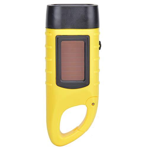 Linterna pequeña, Linterna Manual LED de manivela, para Escalada, Herramienta de Emergencia, antorcha, lámpara para Acampar(Lemon Yellow)
