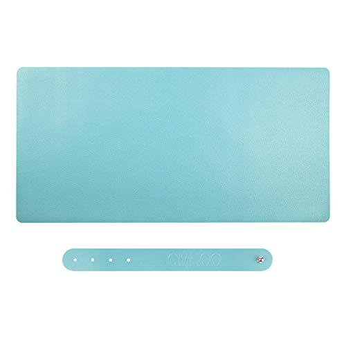 PU Leather Large Gaming Mouse Pad,Multifunctional Office Desk Pad Writting Pad Writing/Office/Home or Gaming (90 PUqianlan)