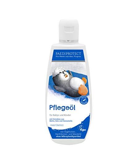 PAEDIPROTECT Pflegeöl für Babys & Kinder (1x200ml), ohne Mikroplastikpartikel, ohne Parfüm, vegan