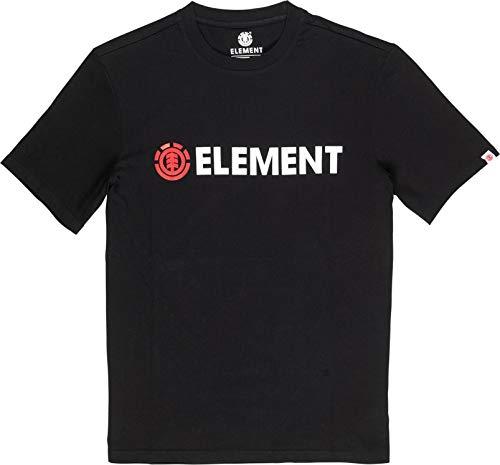 Element Blazin SS T-Shirts, Chemises et Polos Homme, Flint Black, FR : M (Taille Fabricant : M)
