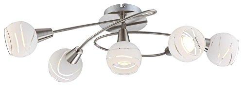 Hochwertige Decken Leuchte Licht 5-flammig Beleuchtung Lampe IP20 Globo 54341-5O