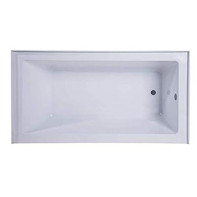 "Fine Fixtures Acrylic/Fiberglass Soaking Bathtub, Exclusive Extra Small Size 48"" x 32"", Alcove/Apron Front (Right Hand)"