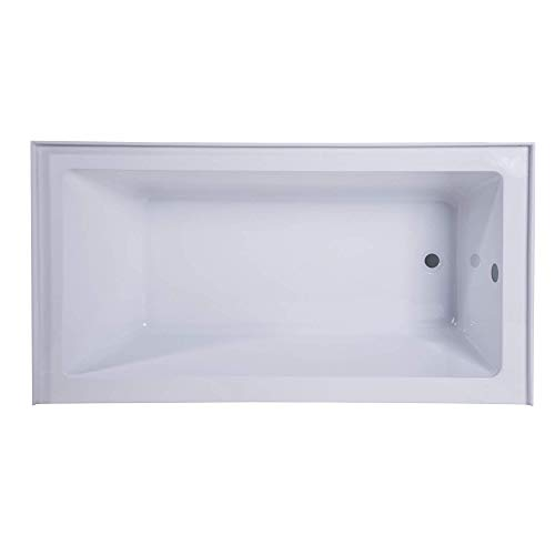 Fine Fixtures Acrylic/Fiberglass Soaking Bathtub, Exclusive Extra Small Size 48' x 32', Alcove/Apron Front (Right Hand)