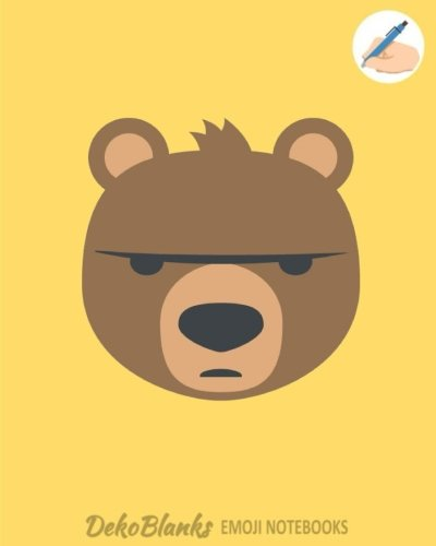 Emoji Notebooks: Angry Bear Emoji Back To School Notebooks for Writing Drawing Journaling Doodling Unlined Unruled Composition Notebook