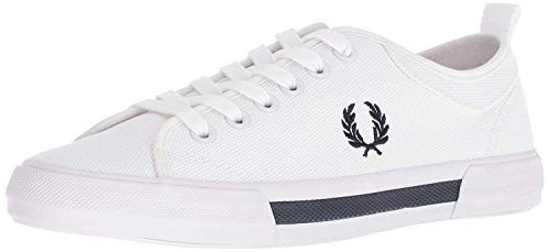Fred Perry Men's Horton Canvas Sneaker, White, 11 D UK (12 US)