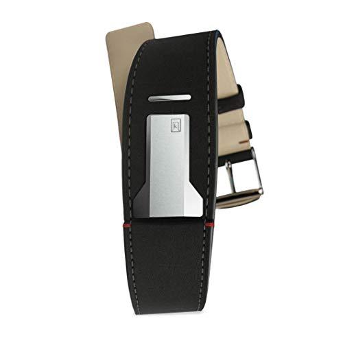 klokers Armband Leder Schwarz klink-01