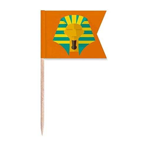 """Beauty Gift Antikes Ã""""gypten Abstraktes Muster Pharao Markierung für die Kennzeichnung von Zahnstocher-Flaggen"""