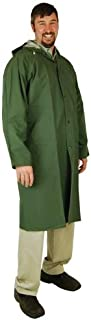 Heavy Duty Raincoat (X-Large) (PVC Coated Polyester) 60-inch (Colors May Vary)