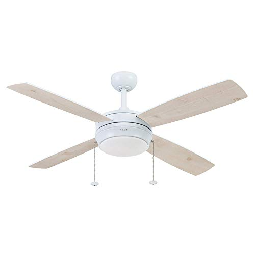 Prominence Home 51636-01 Kailani Ceiling Fan, 52, Bright White