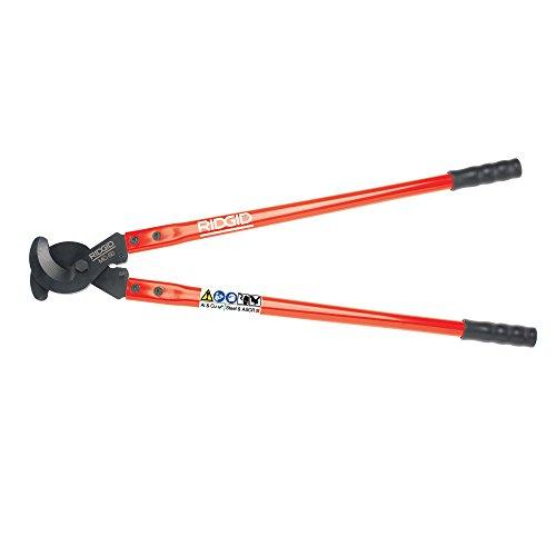 RIDGID 54283 Modell MC-50 Kabelschneider mit Hebelwirkung, 770 mm langer Kabeltrenner für Kupfer und Aluminium Kabel bis zu 50 mm / 500 mm² (mit Isolierung)