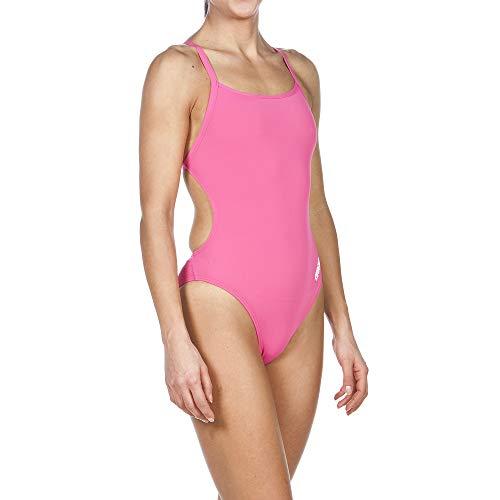 ARENA Damen Mast MaxLife Badeanzug mit dünnen Trägern, offener Racerback-Schnitt, Damen, Badeanzug, Fresia Rose, 38