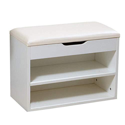 Yxsd shoe rack Banco de almacenamiento de 2 niveles 40/60 x 30 x 45 cm Ailin Home (tamaño: 60 cm)