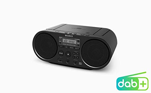 Sony -Boombox-CD-Player (DAB, UKW-Radio, USB) schwarz, ZSPS55B.CED