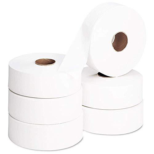 LPM - 6 Rouleaux Papier Toilette Maxi Jumbo - 350 Metres - 2 Plis - 8,8 x 25 cm
