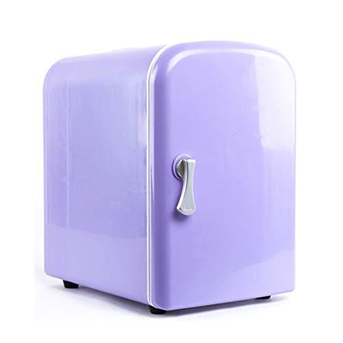 Car refrigerator Mini-Kühlschrank 4L tragbarer Autokühlschrank lila Heiz- und Kühlbox mit Rollen mit Griff Design Schlafsaal Mini-Kühlschrank für Haushaltsauto Dual-Use-Kühlschrank