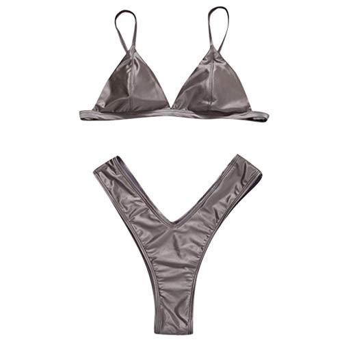 Overdose 2019 Mode Bikini Set Brazilian Style Damen Sexy Gepolstert Basic Einfarbig Triangel BH Bikinis Frauen Badeanzüge Strandmode Swimsuits Beachwear Bademode