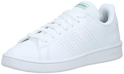 adidas Advantage Base, Scarpe da Tennis Uomo, Ftwr White/Ftwr White/Green, 42 EU